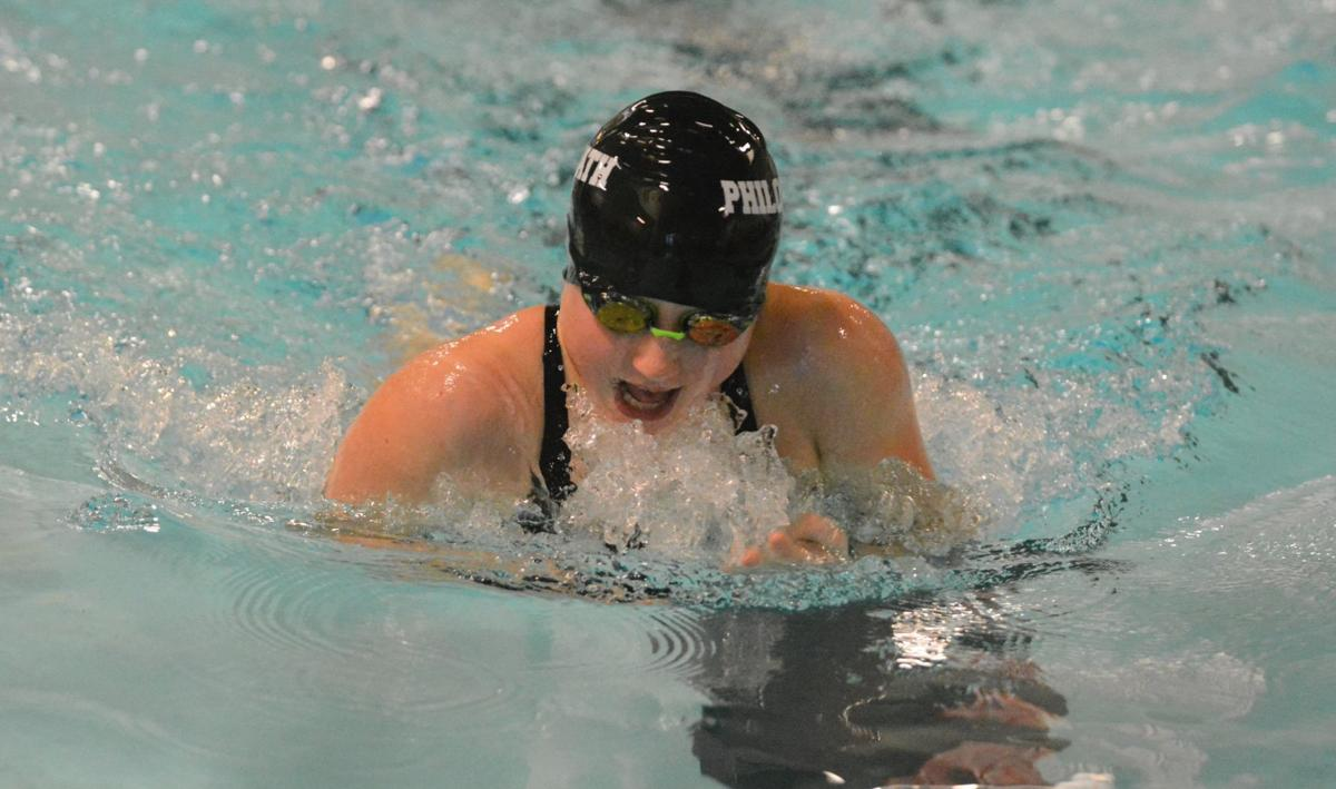 PHS girls swimming: Amity Coon