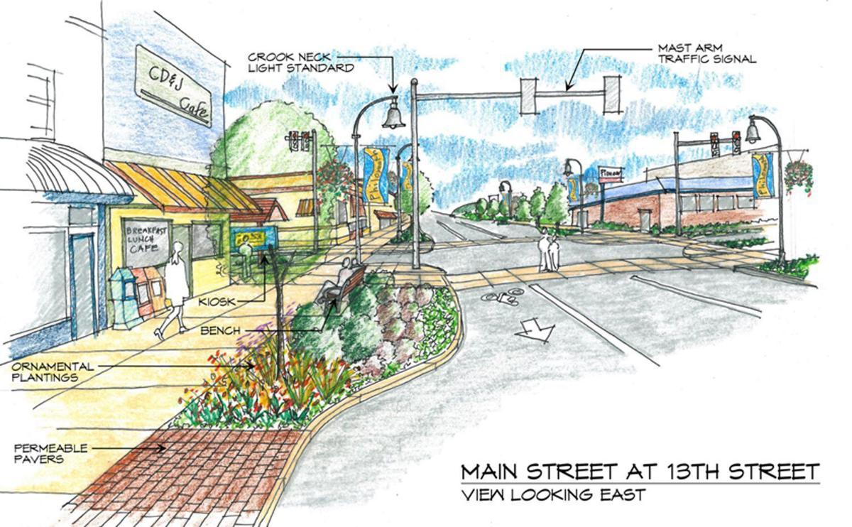 Philomath Streetscape
