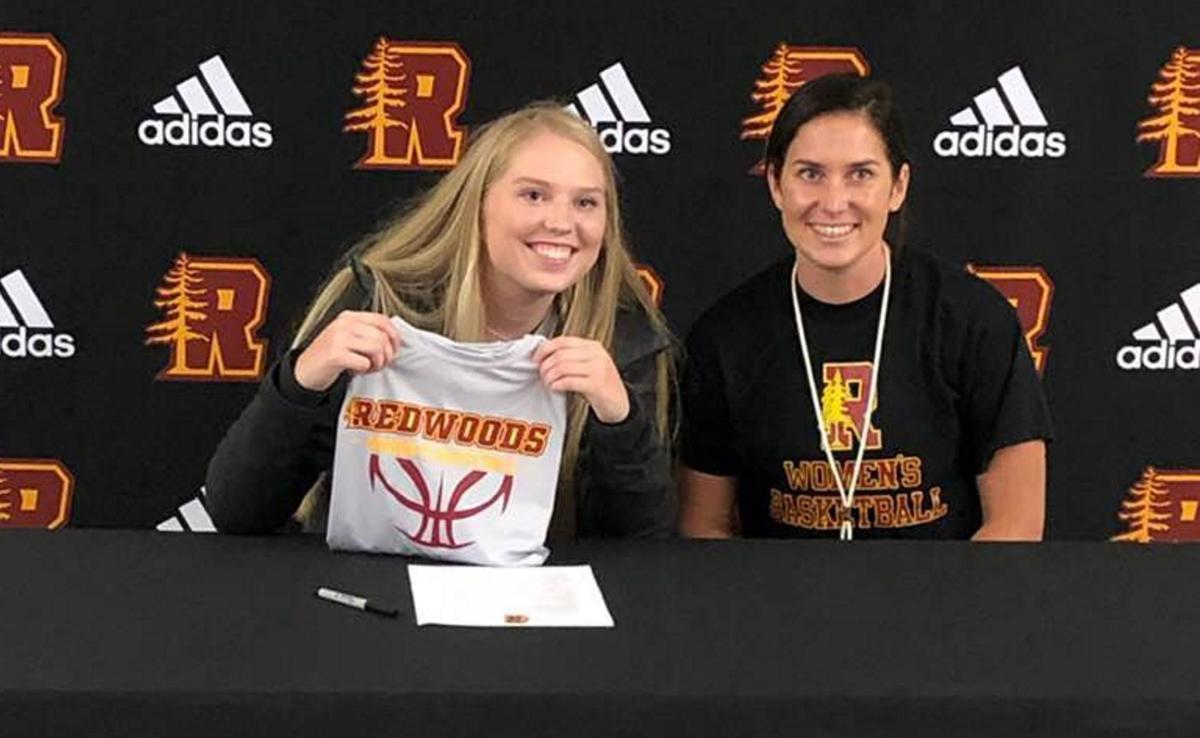 Lauren Berklund signs with College of the Redwoods