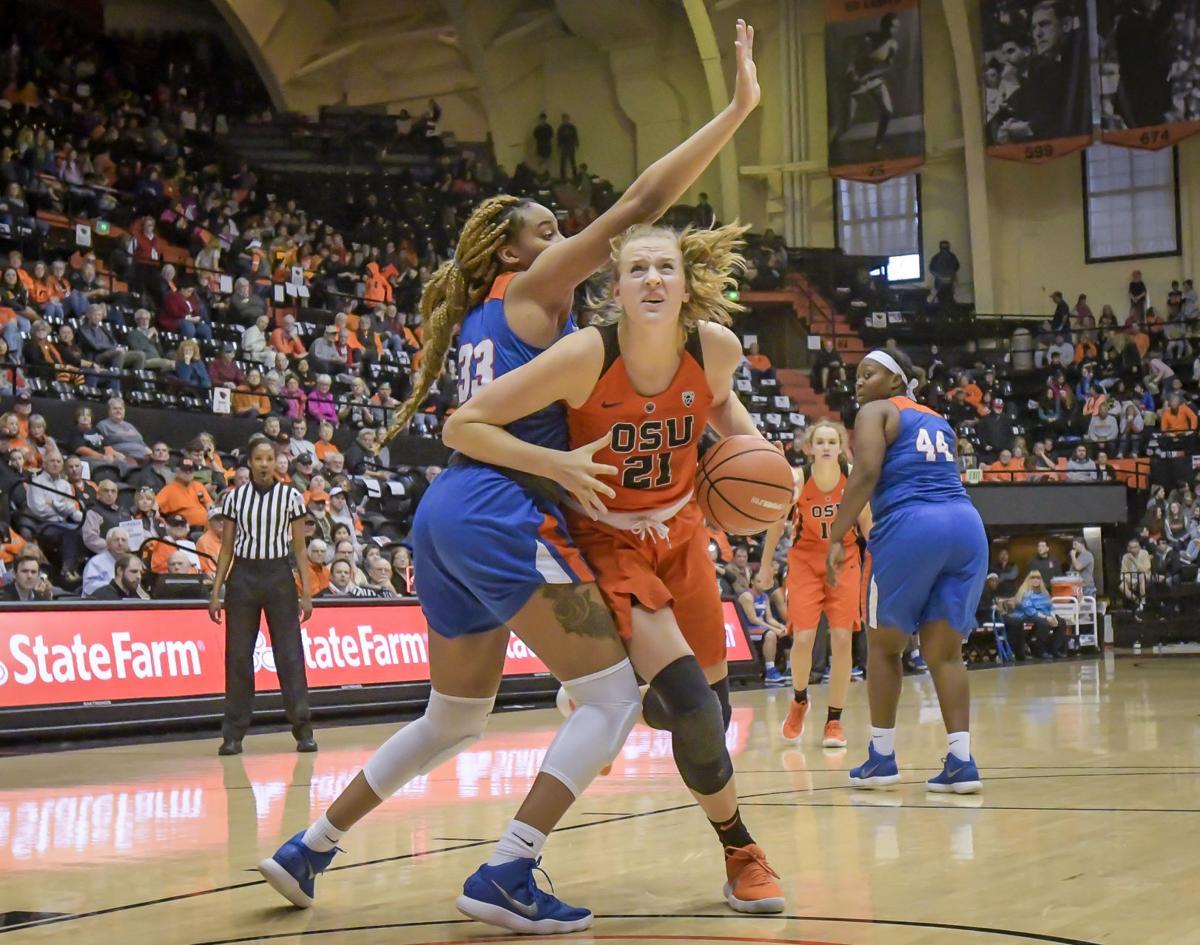 OSU vs Savannah State basketball Gulich
