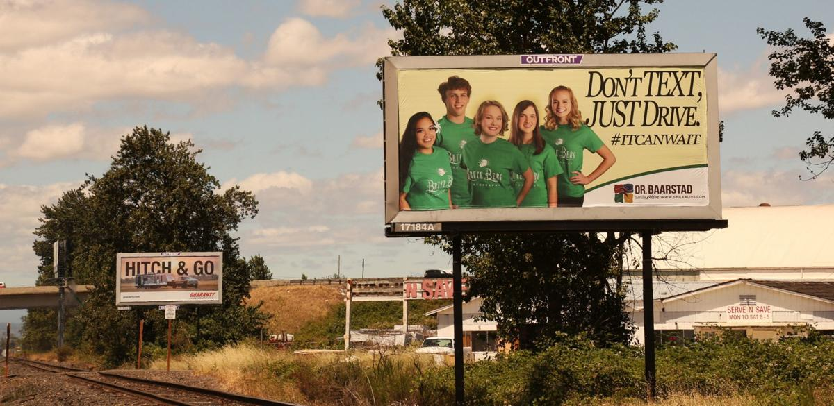 Don't Text Just Drive billboard