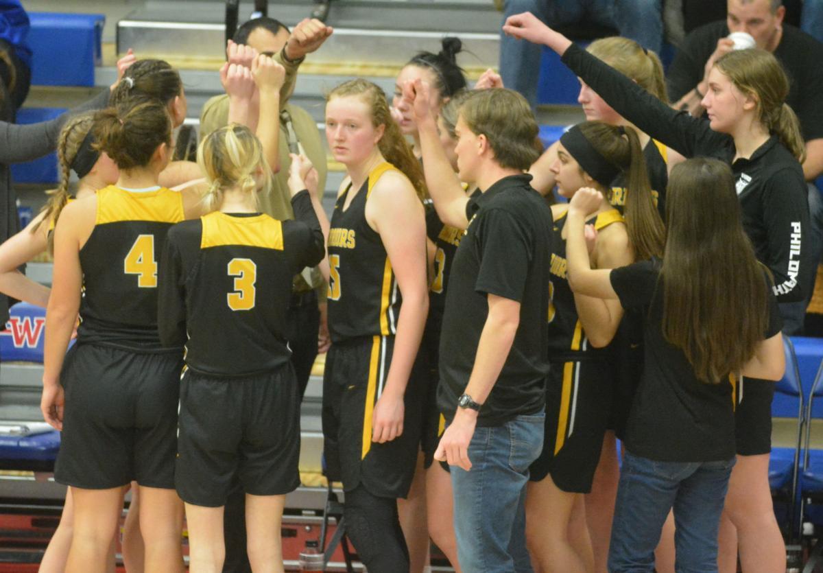 PHS girls basketball: PHS huddle
