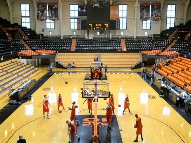New picture windows restore Gill Coliseum's classic appearance   Basketball   gazettetimes.com
