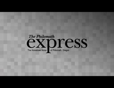 Philomath Express Logo Light Gray