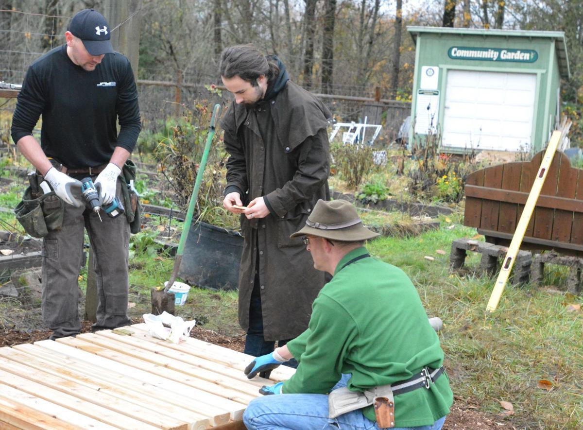Lupe's Community Garden sandbox