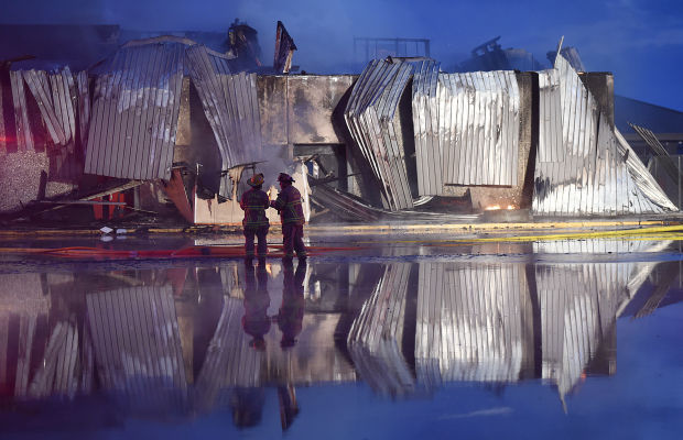 South Albany Fire reflection