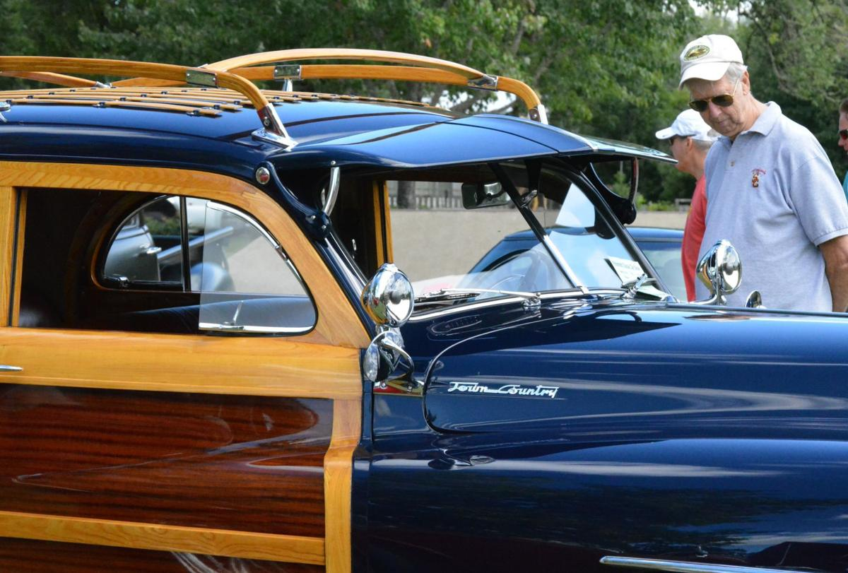 Car Enthusiasts Young And Old Gather For Annual Show Local 1941 Ford Sedan Delivery Classic 1948 Chrysler Town Country