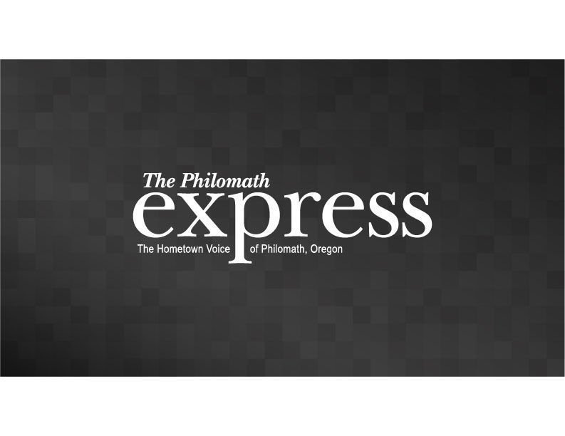Philomath Express Logo Dark Gray