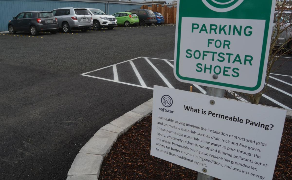Softstar's permeable paved parking lot