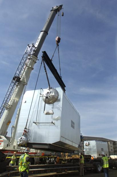 One of two massive boilers makes it to campus   Local   gazettetimes.com