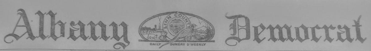 Democrat Herald masthead, 1924
