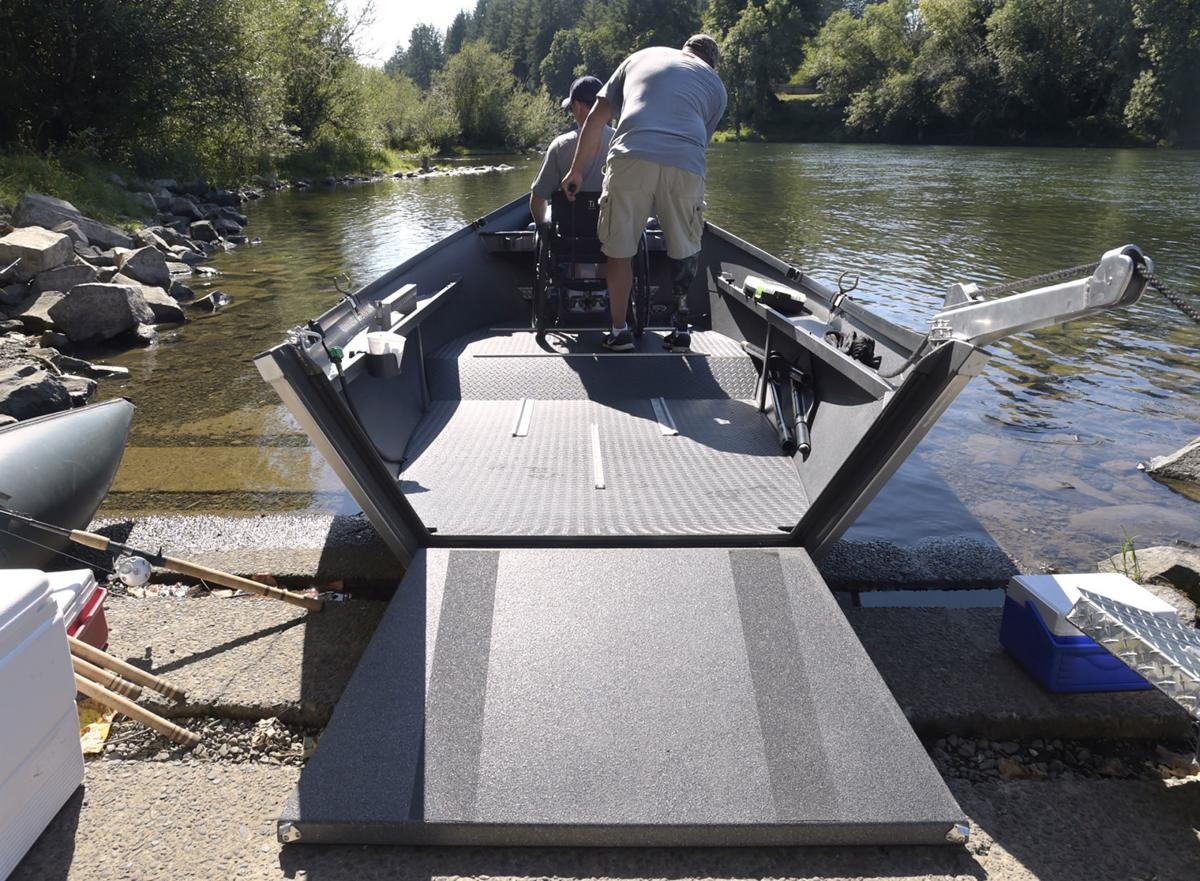 New boat design gets disabled anglers back on the water ...