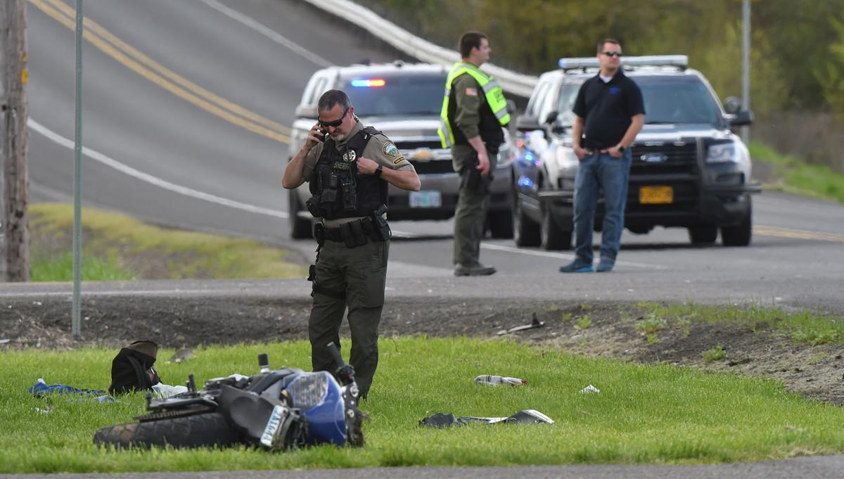 Motorcyclist hospitalized after Albany collision