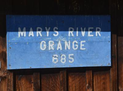 Marys River Grange sign