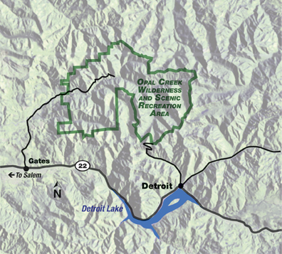 At A Glance Opal Creek Wilderness And Scenic Recreation Area