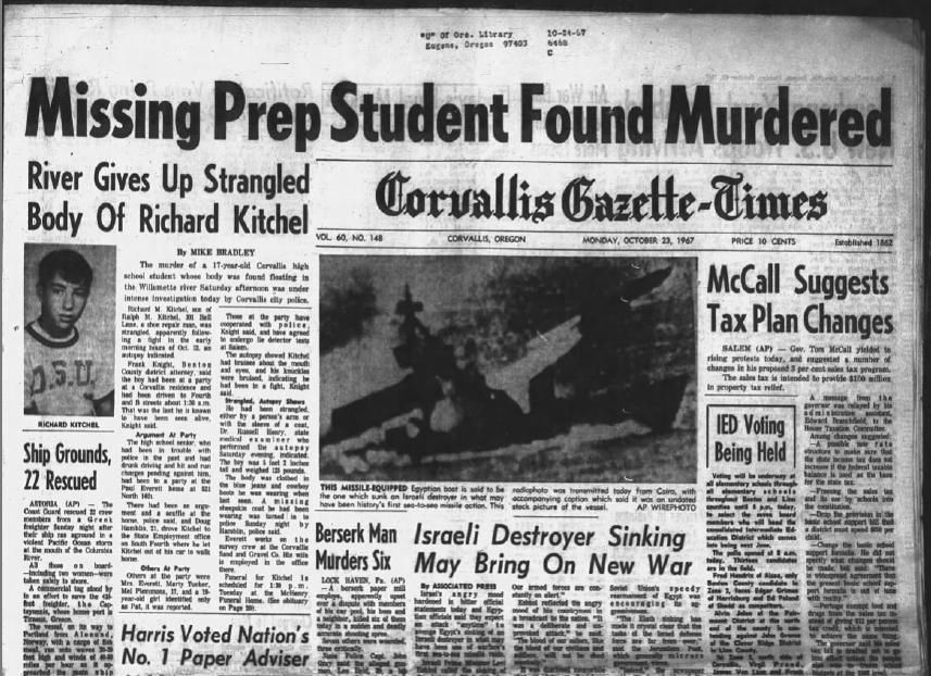 Dick Kitchel front page