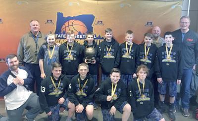 Philomath seventh-grade basketball team 2018-19