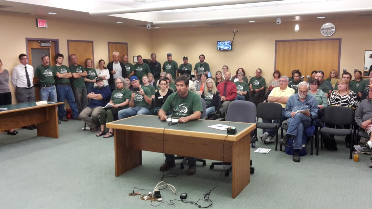 Union Members Turn Out For Council Meeting Local Gazettetimes