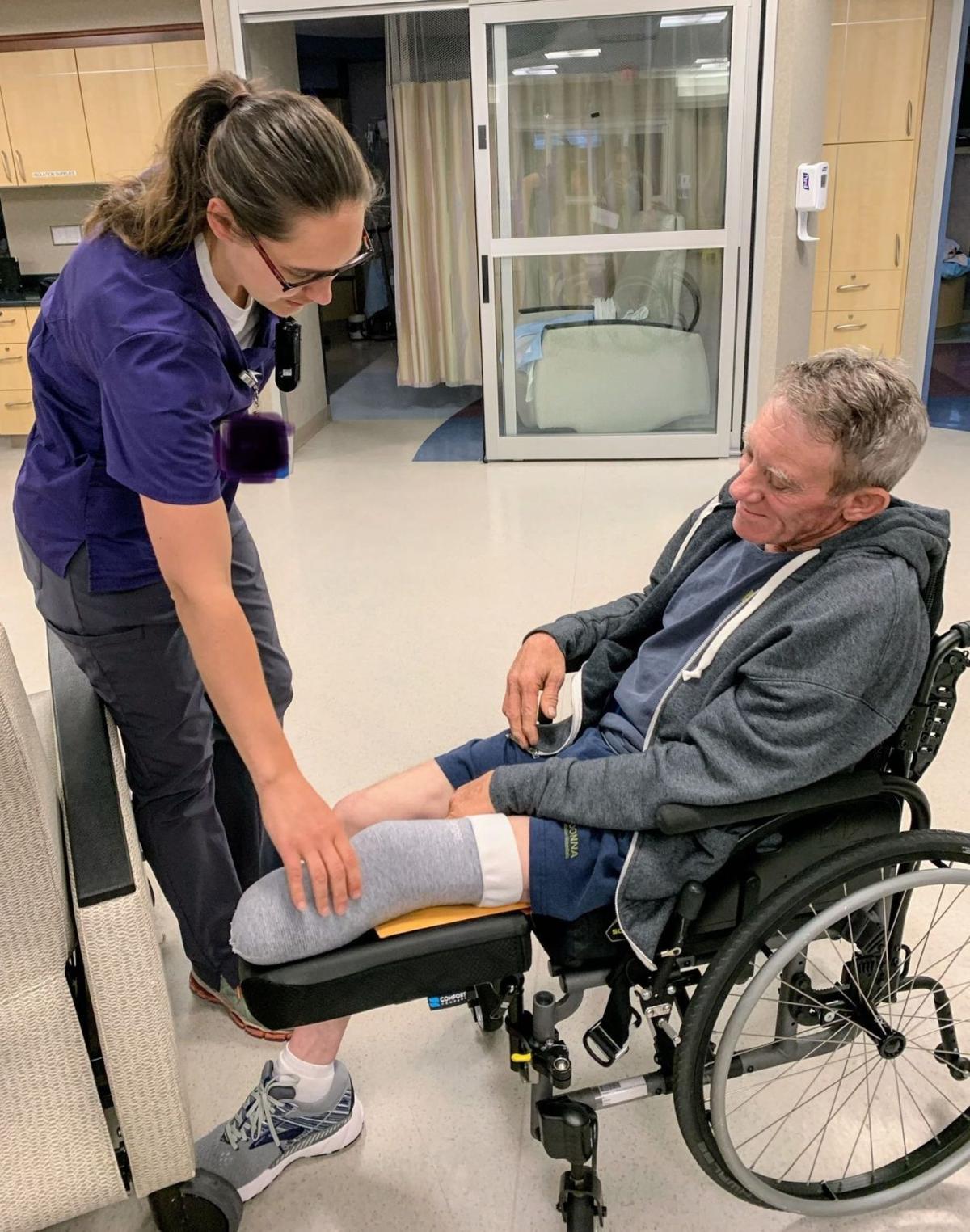 Farmer amputates his leg