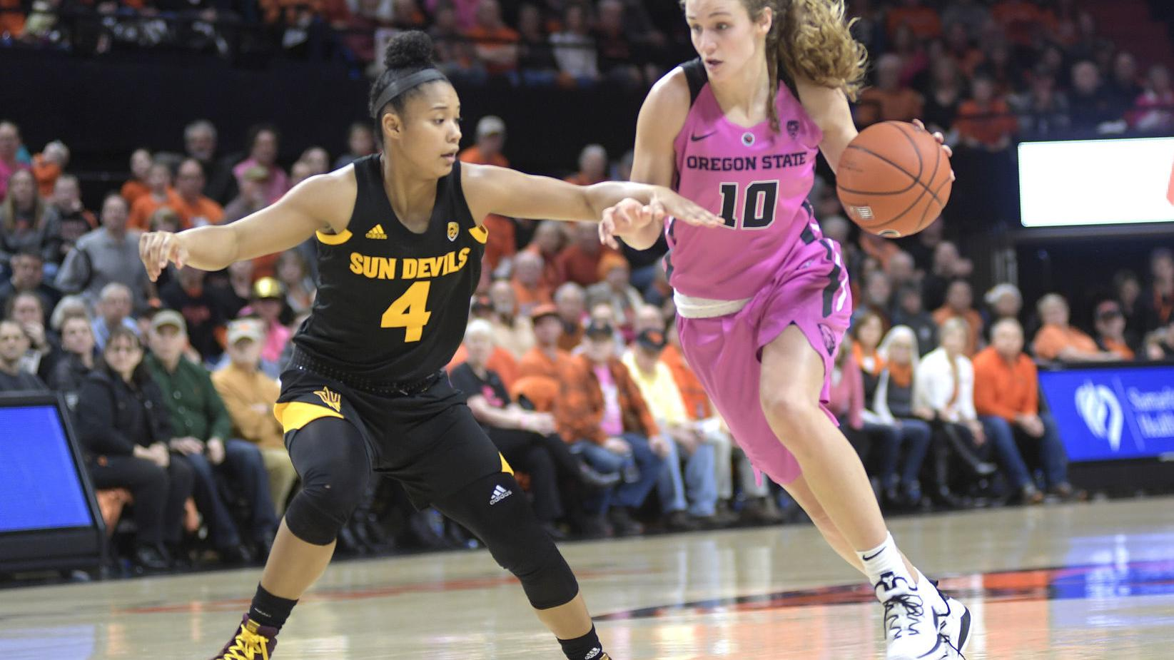 Pac-12 women's basketball notebook: Beavers fall a game back of first