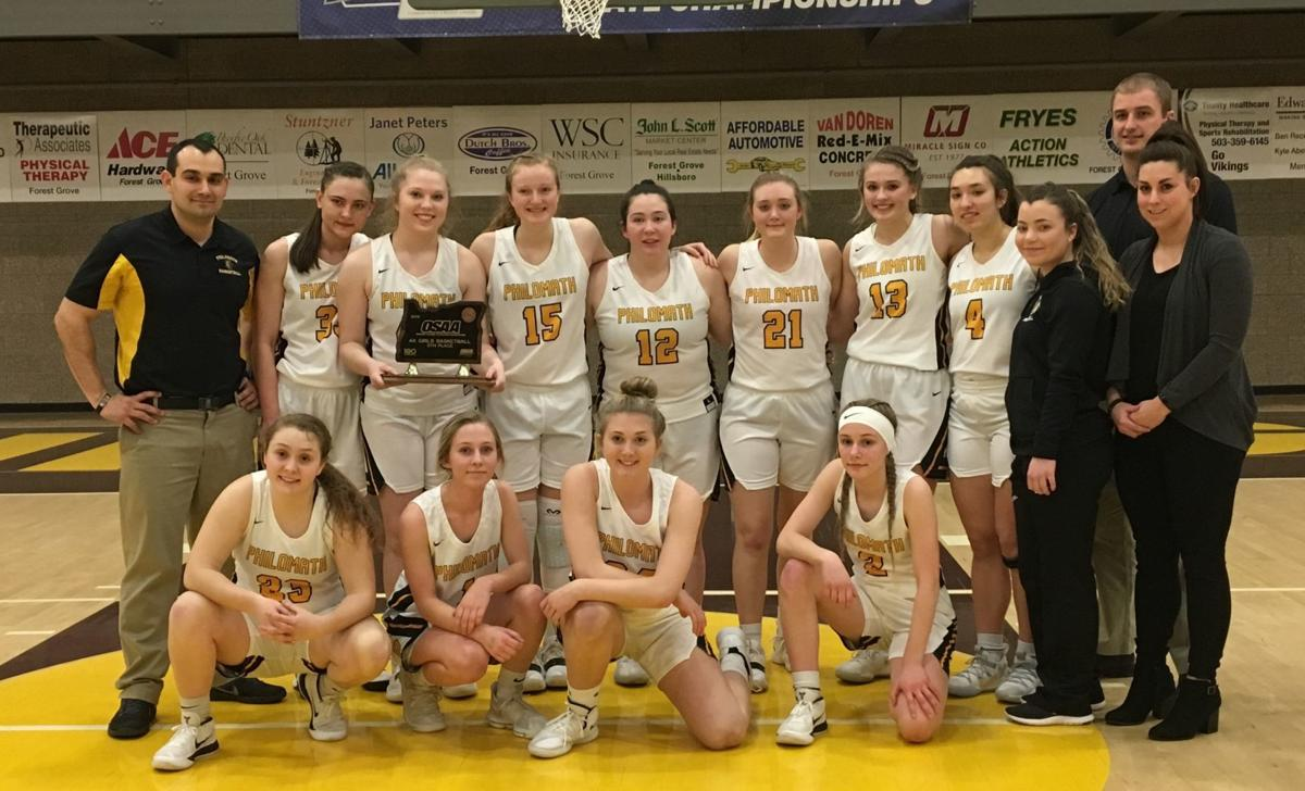 PHS girls basketball: Fifth-place trophy