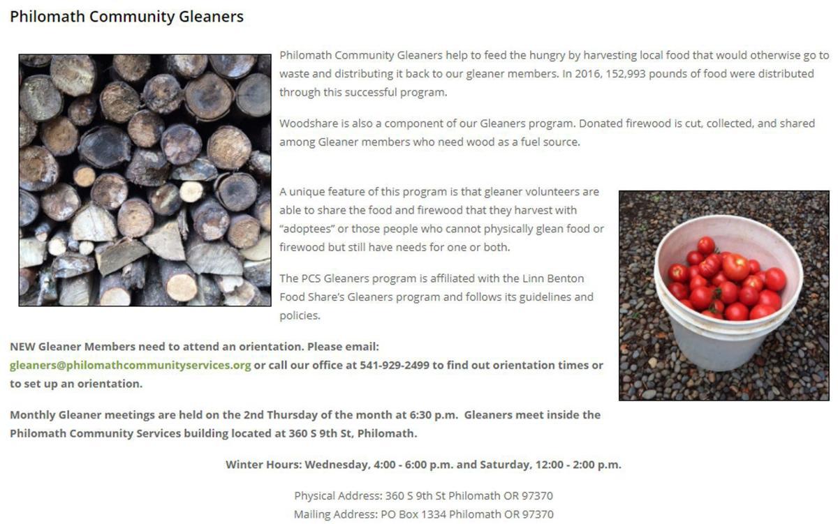 Philomath Community Gleaners