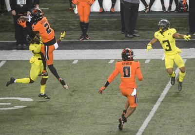 OSU vs UO football Wright interception
