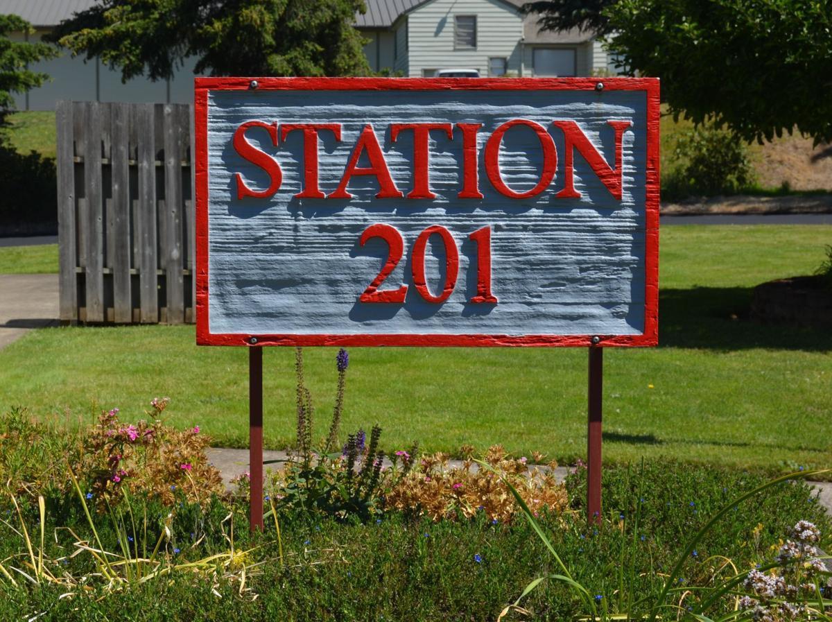 Station 201 sign