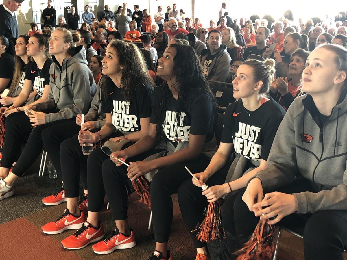 OSU women watch selection show
