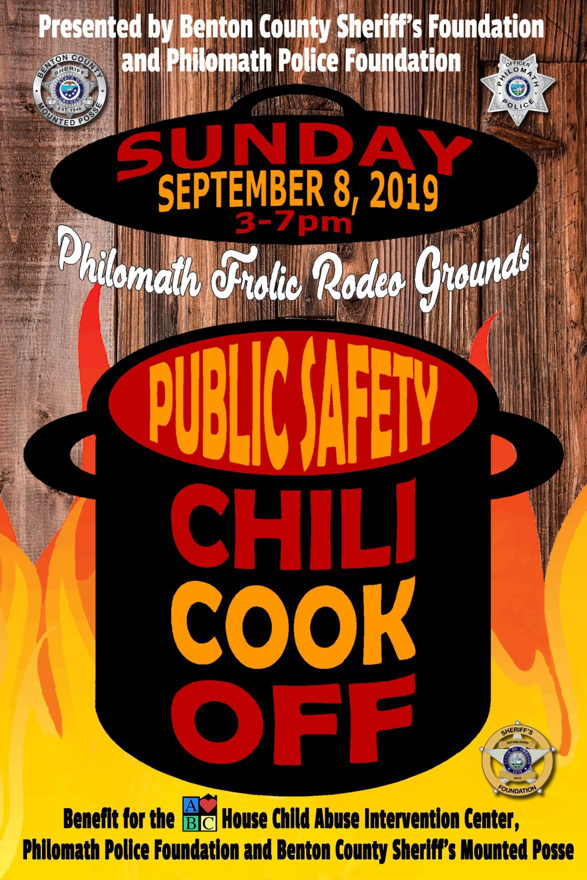 Chili cook-off poster 2019