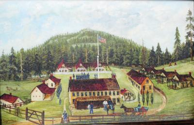 Fort Hoskins painting