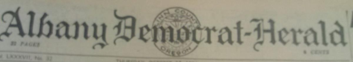 Albany Democrat-Herald, 1934