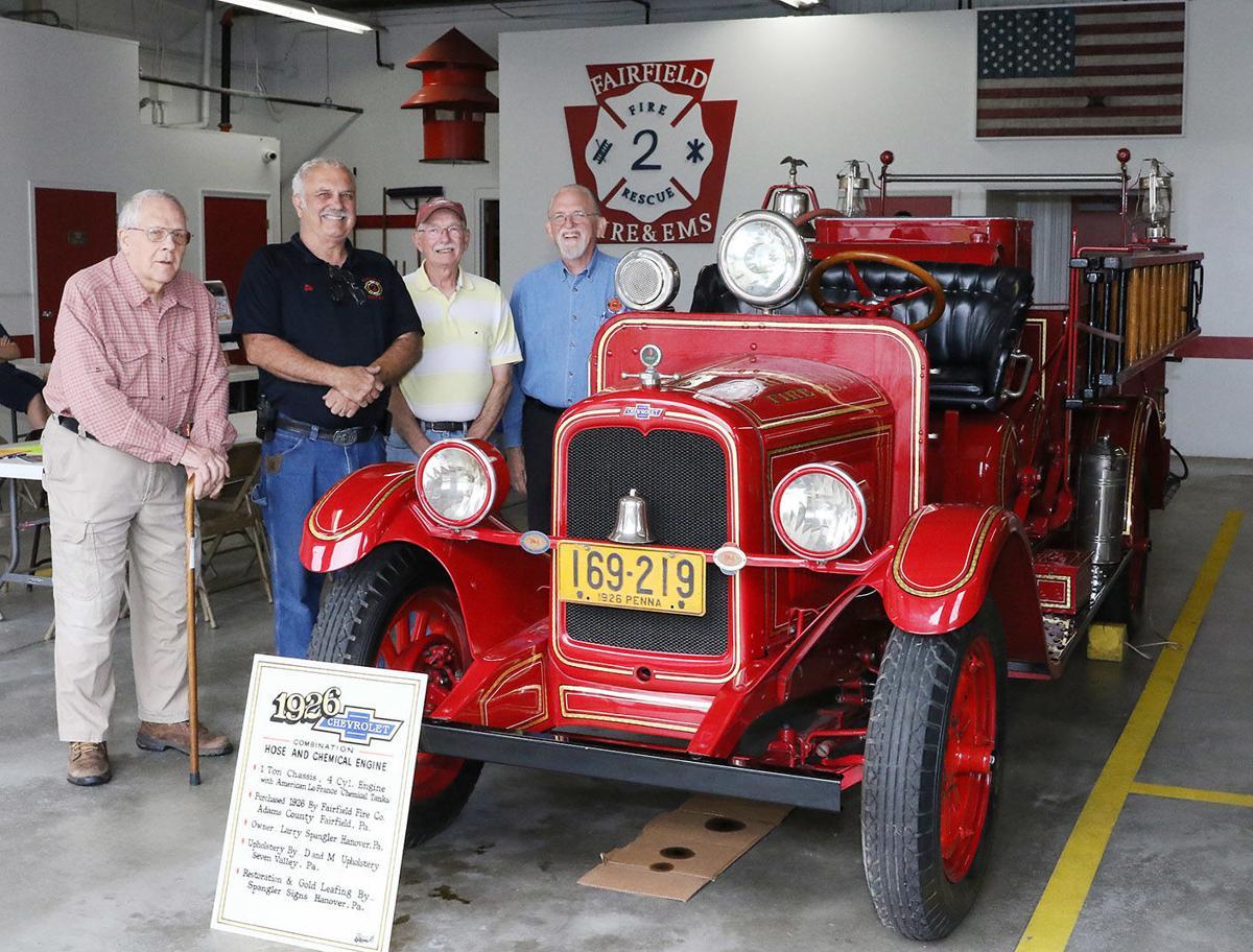 Old engine on display