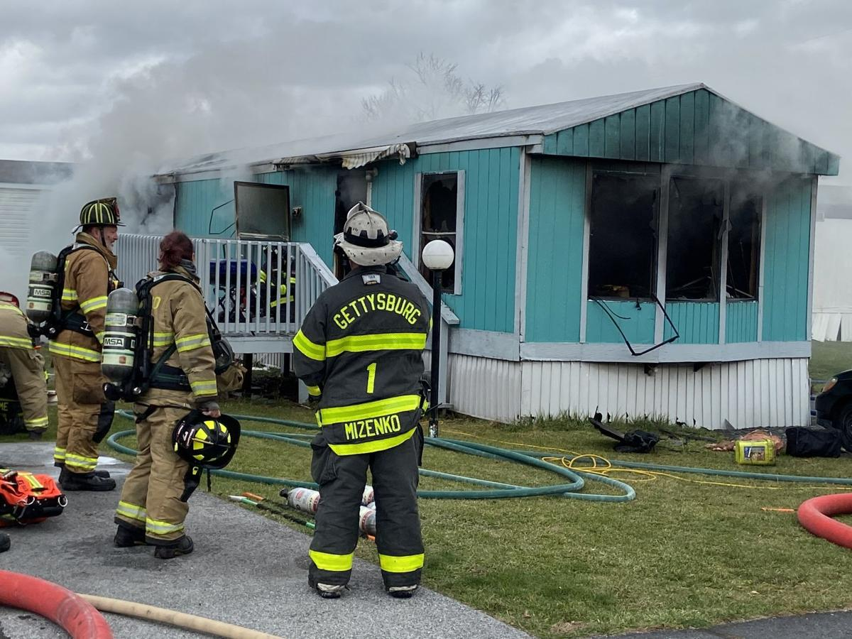 Fire at mobile home