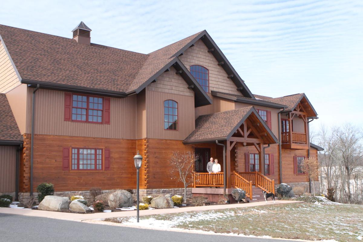 Local home featured in 39 log home living 39 magazine home for Log homes magazine