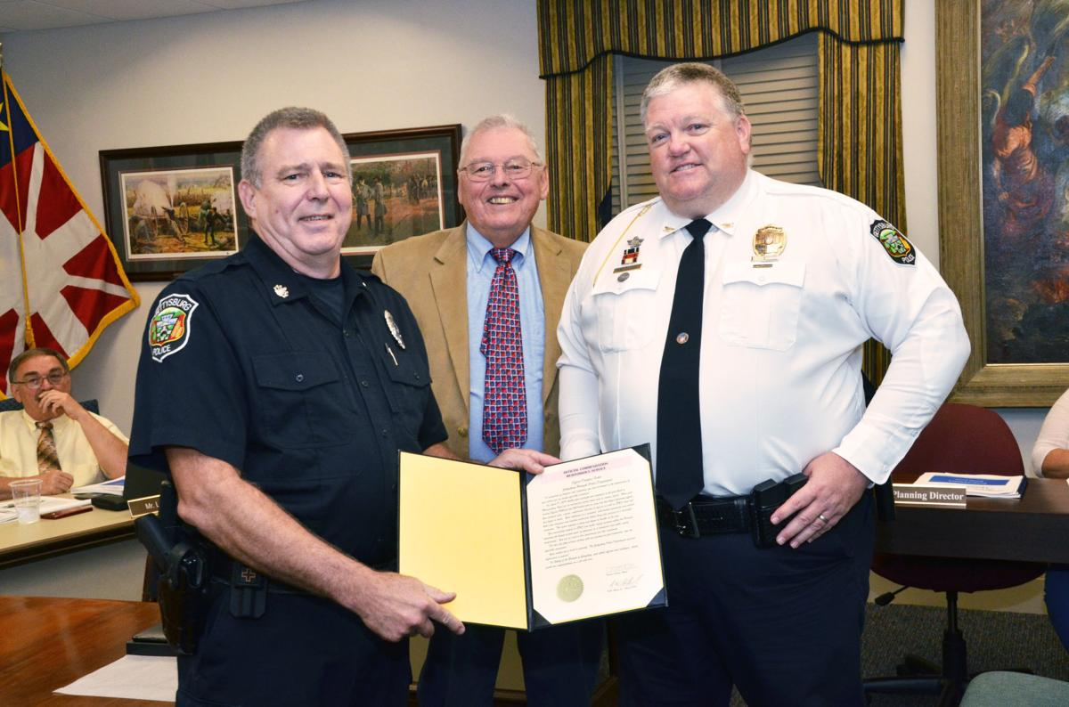 Officer Fishel commended
