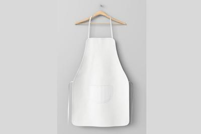 Blank apron with pocket