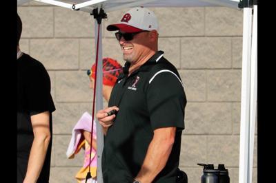 Desert Ridge swim coach Brock Harr