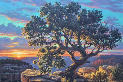 Paintingls like this by Mick McGinty Captivate the breathtaking beauty of the Grand Canyon.