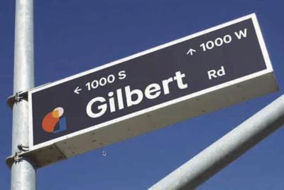 Gilbert's new logo