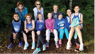 The Gladwin Junior High Cross Country team at the Lancer Invitational