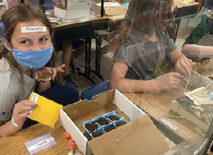 GC 4-H growing a pizza