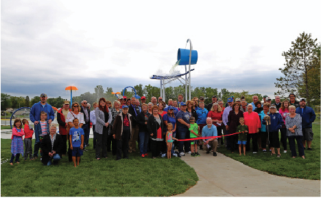 Community members assembled for the ribbon cutting on Monday, Sept. 9.