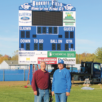 Scoreboard Arrives Just In Time For Homecoming News Gladwinmicom