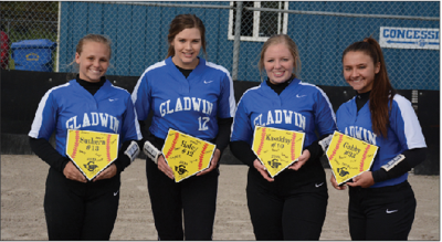 Gladwin seniors Suthern Schuler, Haley Miller, Kassiday Dawley and Gabby Airbets.