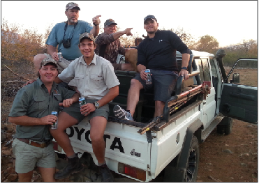 The crew that accompanied Josh and Elijah during the African Safari.