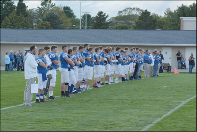 Gladwin played their first home game of the year last week against Farwell.