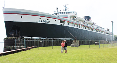 Wes and Cyndi arrive in Manitowoc Wisconsin via the SS Badger.