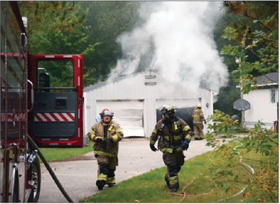 Gladwin Firefighters on the scene of the second fire.