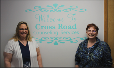 Cheryl Biddinger, left, and Brenda Mather, right, are now accepting patients at Cross Road Counseling Services.